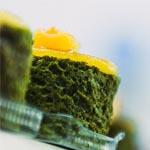 El original pionono de té verde Matcha y albaricoque