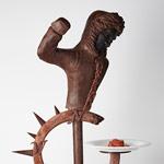 escultura de chocolate de Suiza