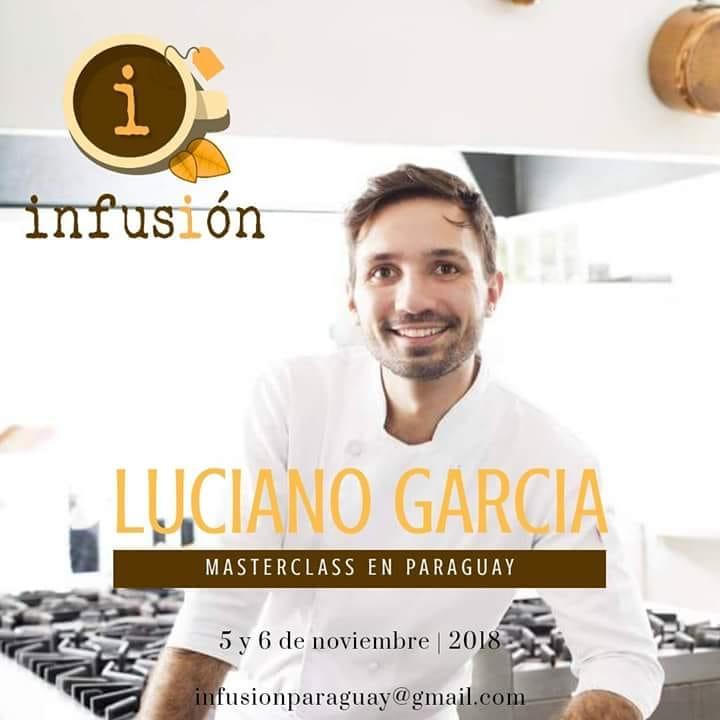 Cartel de Luciano García en Infusión Paraguay