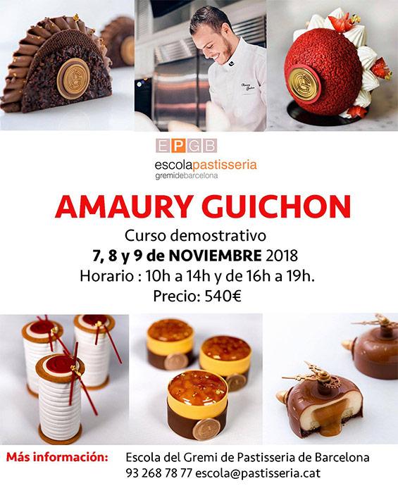 Cartel Amaury Guichon en EPGB