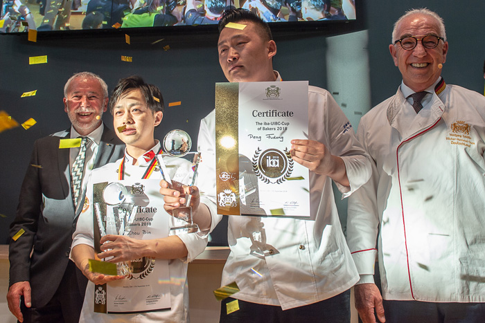 Zhou Bin and Peng Fudong, ganadores de la IBA UIBC Cup Bakers