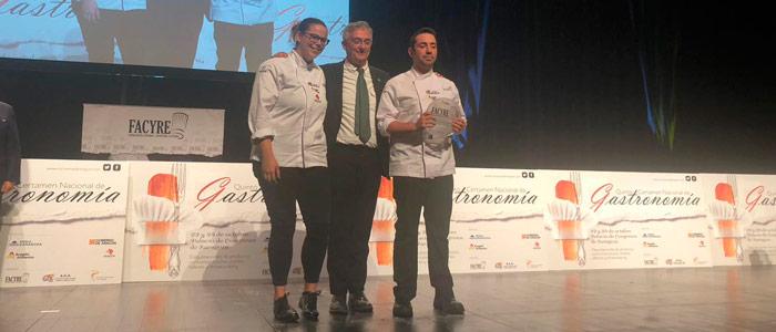 Adrián Ruiz y Alba Llacera, ganadores Repostería Facyre 2018