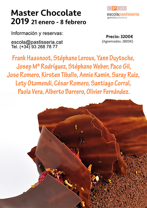 Cartel Máster chocolate de la EPGB 2019