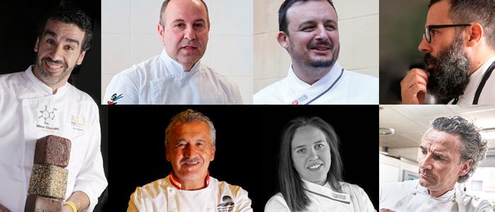 Algunos de los chefs protagonistas del programa de actividades de Intersicop 2019