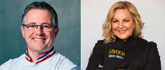 Stéphane Leroux y Kirsten Tibballs