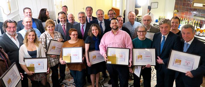 Miembros de las panaderías galardonadas con el sello de calidad