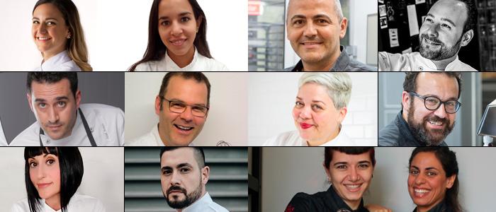 Fotos de todos los participantes en la II muestra de pastelería