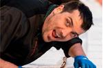 Jordi Rodellas con la neula más larga del mundo