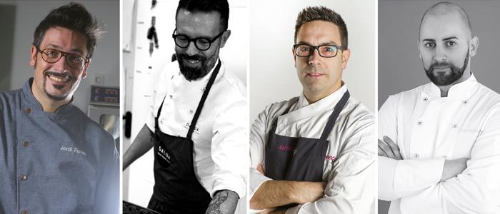 Los cuatro chefs que impartirán clases magistrales