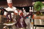 El chef de Malasia en acción