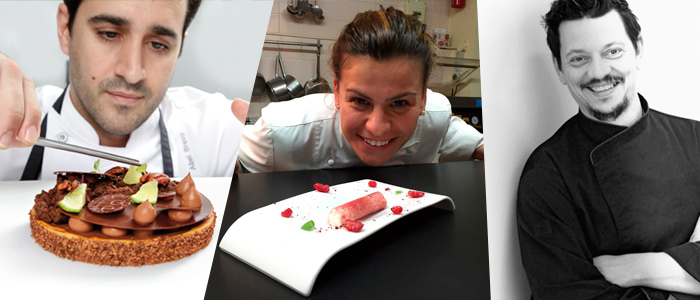 Tres de los chefs que impartirán cursos