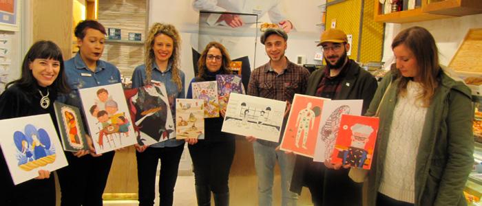 Participantes del certamen Ilustración Dulce