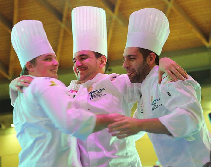 El equipo italiano, ganador del World Junior Pastry Championship