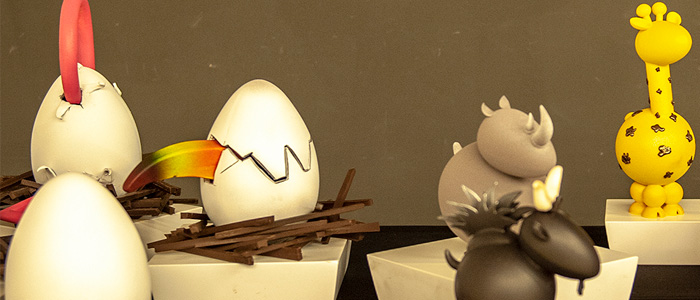 Varias muestras de huevos de pascua