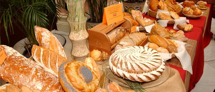 Muestra de panes artesanos