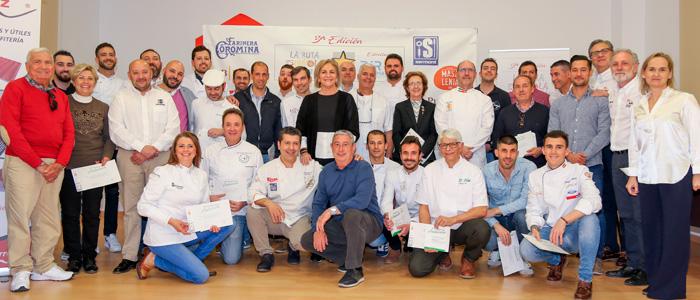 Foto final de los galardonados y los organizadores