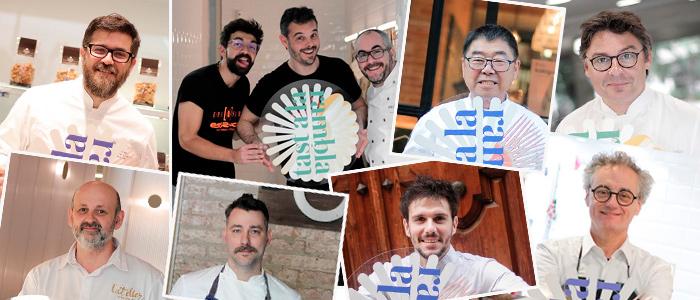 pasteleros participantes en el Tast a la Rambla de 2019