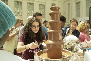 Fuente de chocolate en Chocomad