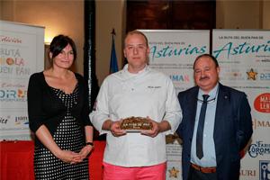 Angel Luque, ganador de la Miga de Oro Asturias