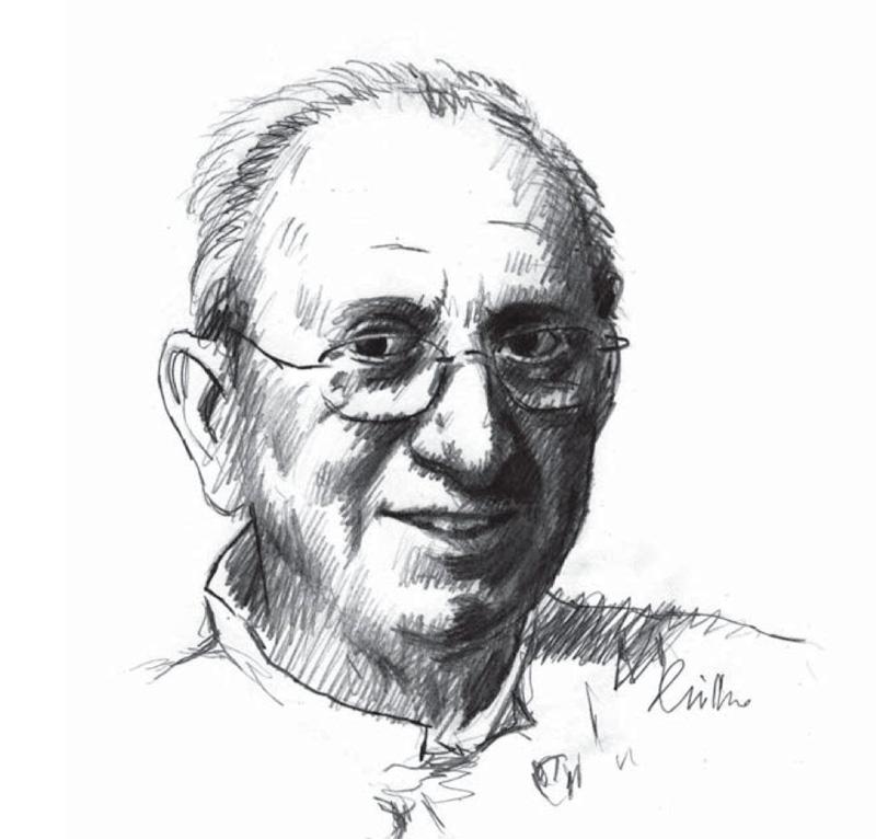 Retrato a lápiz de José Mari Gorratxategi