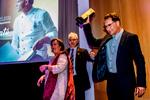 Ramón Morató durante la entrega del premio a su trayectoria profesional