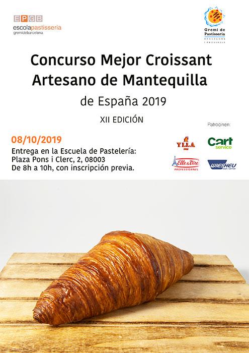cartel Concurso Mejor Croissant 2019