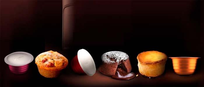 Muestra de las cápsulas Tigout y los muffins