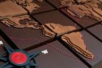 Detalle del mapamundi creado por los miembros de la Chocolate Academy