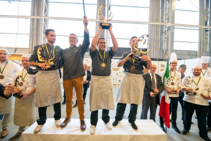 Equipo francés ganador de la 20ª Copa de Europa de Panadería
