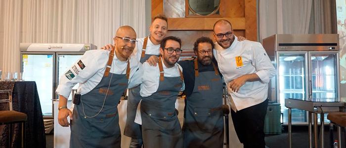 Gonzalo Jiménez, Jorge Kauam, Carles Mampel y Jesús Escalera