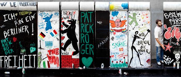 Réplica del muro de Berlín de chocolate de Patrick Roger