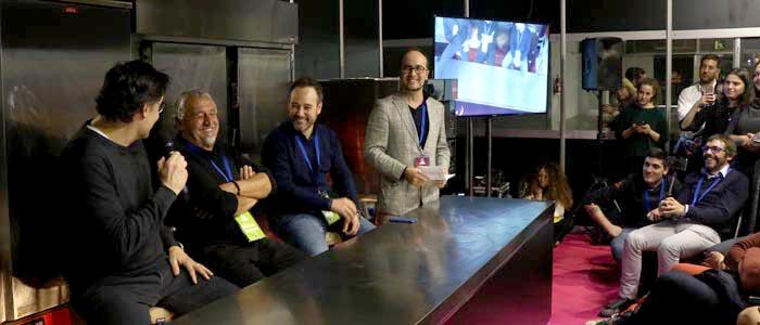 Oriol Balaguer, Paco Torreblanca y Josep Maria Ribé durante la mesa redonda sobre chocolate