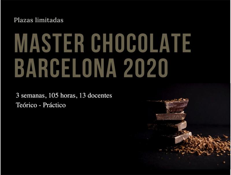 Cartel promocional del Máster de Chocolate 2020