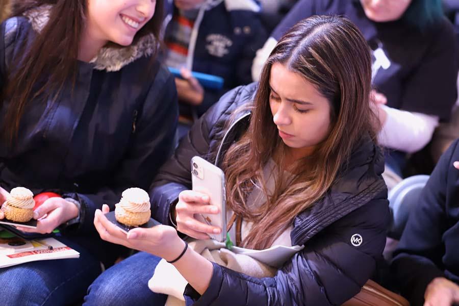 momento con el público en la Mostra de Sant Vicenç