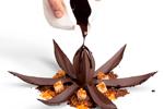 Vista completa del postre Flor de Cacao