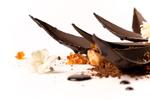 Detalle del postre Flor de Cacao