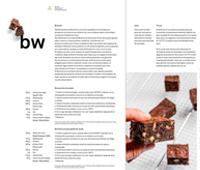 Receta del brownie en el libro Alphabet