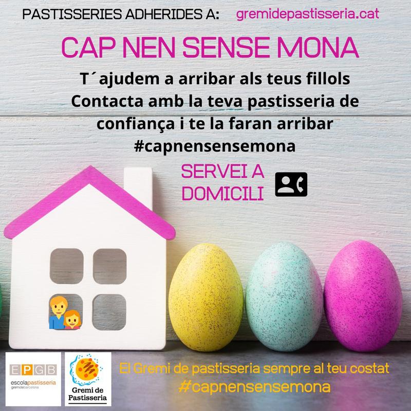 Cartel sobre la campaña Cap nen sense mona