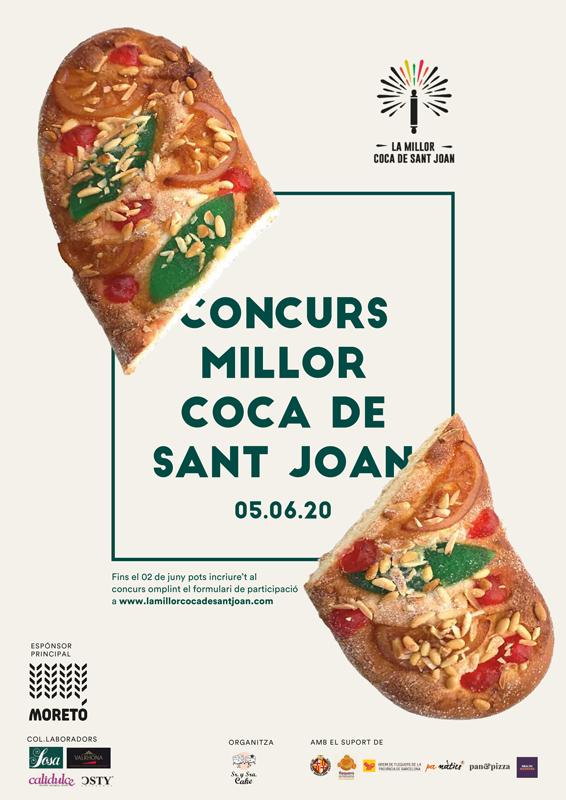 Cartel del concurso de la Mejor Coca de San Joan