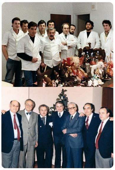 Junto a otros profesionales del momento en Barcelona en los años 90