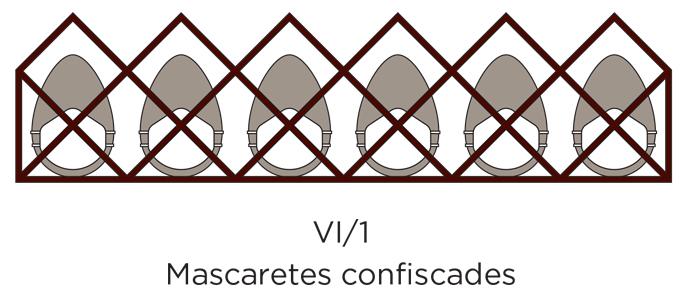 Mascarillas confiscadas diseño de mona de Enric Rovira