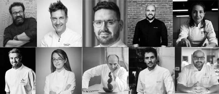 Chefs participantes en las Pastry Connection