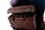 Detalle del cofre de chocolate