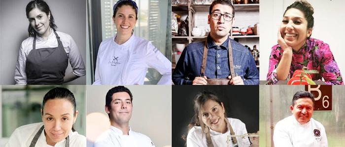 Algunos de los chefs participantes del foro pastelero