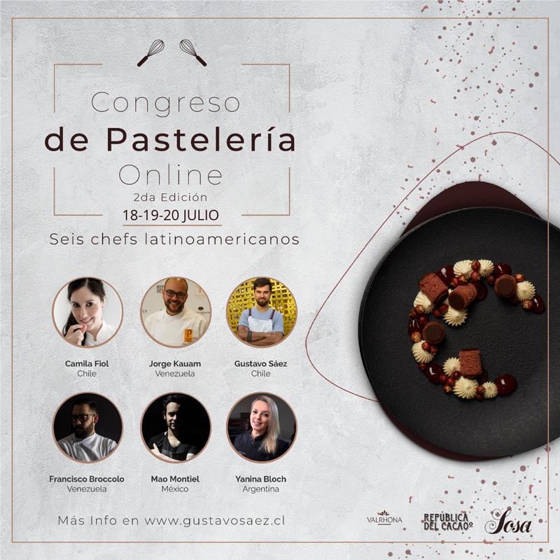Cartel del Congreso de pastelería online de Gustavo Sáez