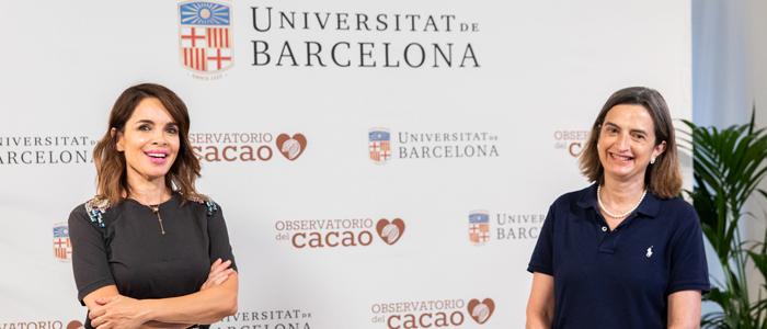 Presentación del estudio  con la Dra. Izquierdo y la periodista Carme Chaparro
