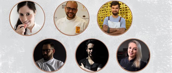 Chefs participantes en el congreso de pastelería de Gustavo Sáez