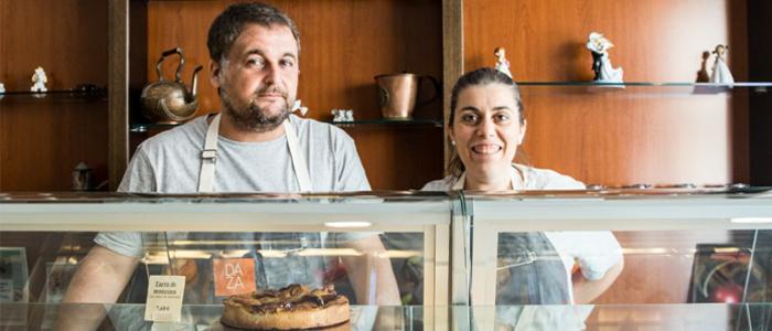 Puri Morillo en la Pastelería Daza
