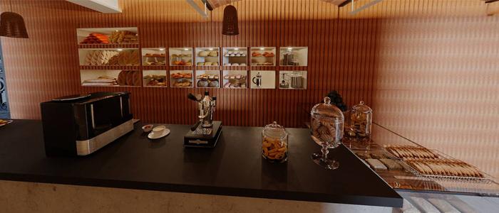 Mostrador de la panadería Çuina de Xano Saguer