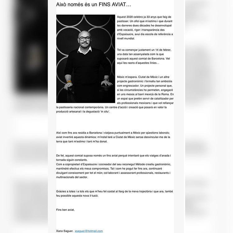 Despedida de Xano Saguer